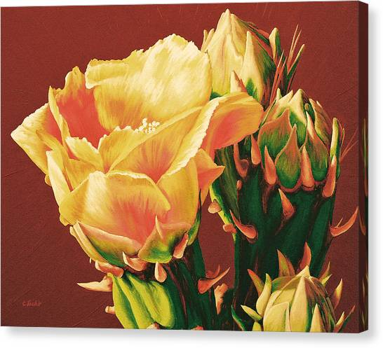 Yellow Rose Of The Desert Canvas Print