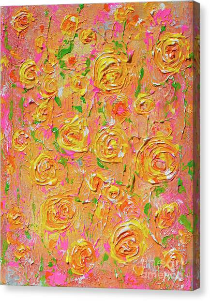 Yellow Roses Of Texas Canvas Print