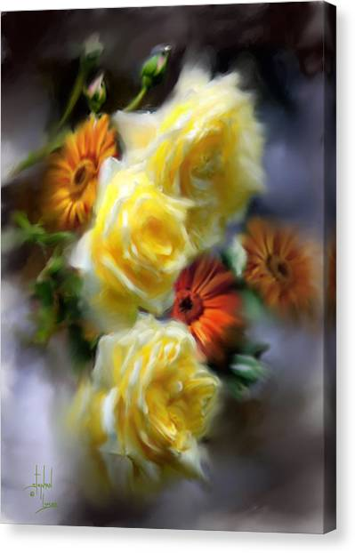 Yellow Roses Canvas Print by Stephen Lucas