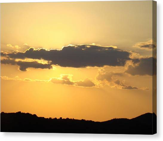 Yellow Sky Two Canvas Print by Ana Villaronga