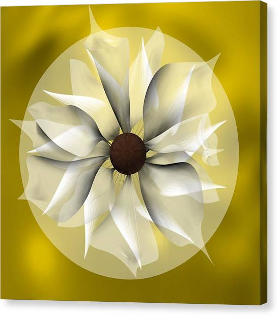 Yellow Soft Flower Canvas Print
