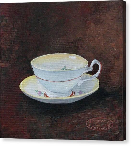 Yellow Teacup Canvas Print by Sharon Steinhaus