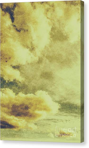 Cloudscape Canvas Print - Yellow Toned Textured Grungy Cloudscape by Jorgo Photography - Wall Art Gallery