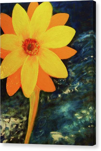 Yellow Treat Canvas Print