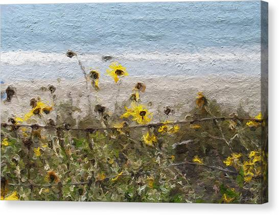 Daisy Canvas Print - Yellow Wildflowers- Art By Linda Woods by Linda Woods
