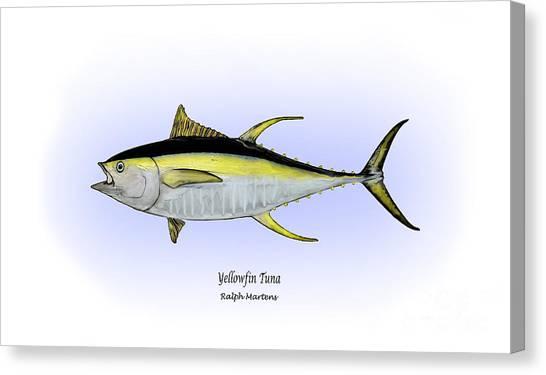 Angling Art Canvas Print - Yellowfin Tuna by Ralph Martens