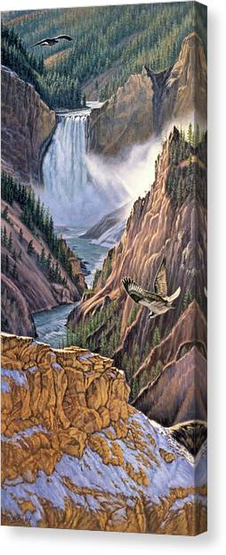 Yellowstone Canvas Print - Yellowstone Canyon-osprey by Paul Krapf