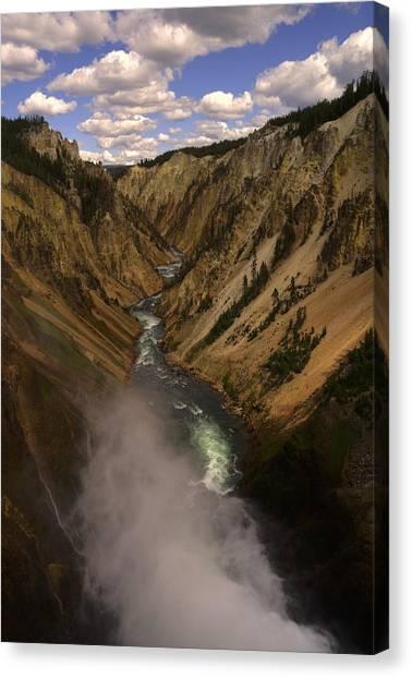 Yellowstone Grand Canyon Canvas Print by Patrick  Flynn