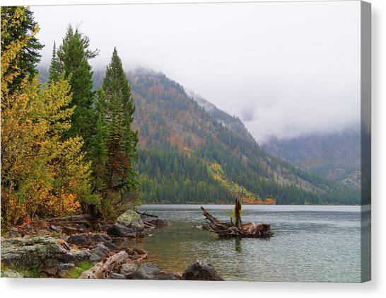 Yellowstone Lake Fall Canvas Print