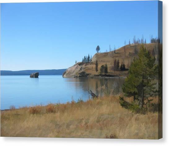 Yellowstone Lake Se Canvas Print