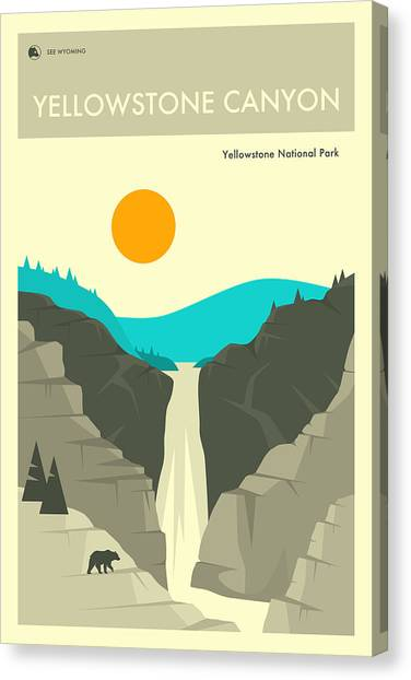 Yellowstone National Park Canvas Print - Yellowstone Canyon 2 by Jazzberry Blue