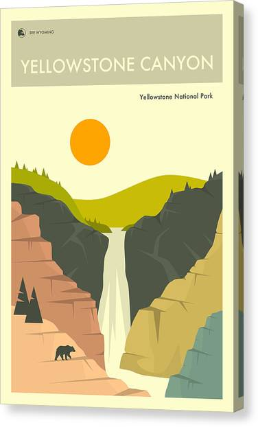 Yellowstone National Park Canvas Print - Yellowstone Canyon 1 by Jazzberry Blue