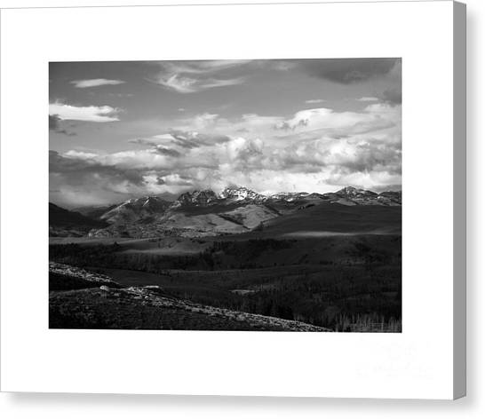 University Of Utah Canvas Print - Yellowstone National Park Scenic by Greg Kopriva