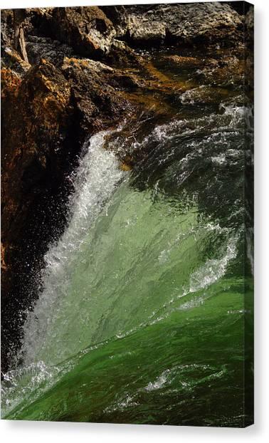 Yellowstone Upperfalls Canvas Print by Patrick  Flynn