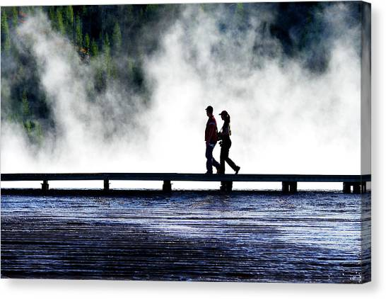 Yellowstone Walkers Canvas Print