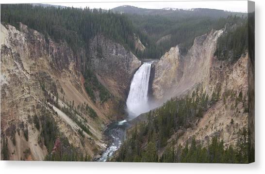 Yellowstone National Park Canvas Print - Yellowstone Waterfall by Bethany Diaz