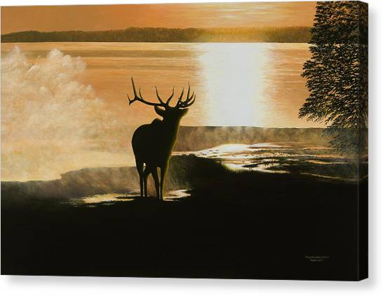 Yellowstone's Monarch Canvas Print