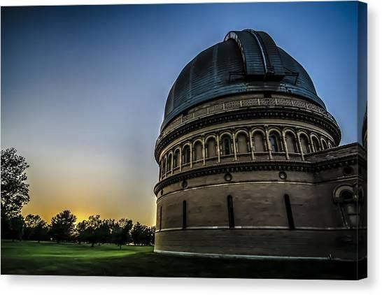 University Of Wisconsin - Madison Canvas Print - Yerken Observatory At Sunset by Sven Brogren