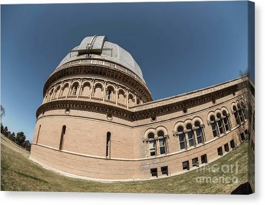 University Of Wisconsin - Madison Canvas Print - Yerkes Observatory - 5 by David Bearden
