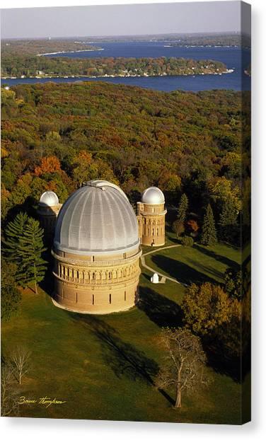 Yerkes Observatory - Aerial View - Lake Geneva Wisconsin Canvas Print