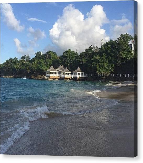 Jamaican Canvas Print - Yes Please. #starkwedding #jamaica by Tammy Wetzel