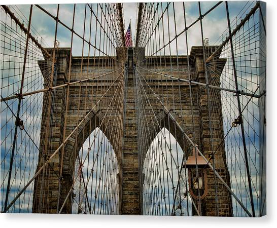 Brooklyn Nets Canvas Print - Yesterday Today  And Tomorrow - Brooklyn Bridge by Stephen Stookey