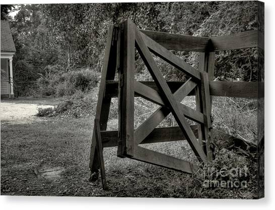 Yesterday's Gate Canvas Print