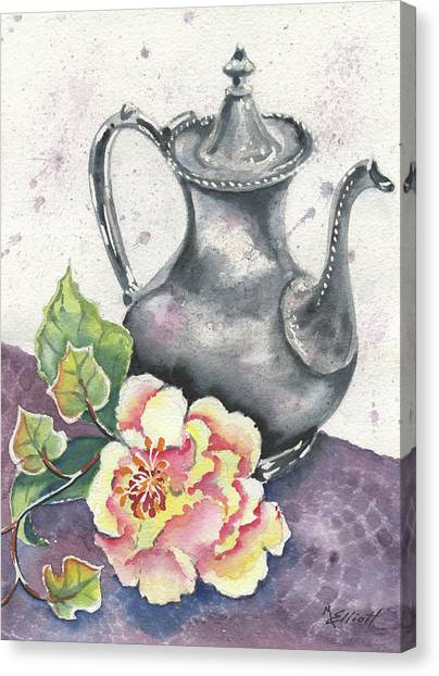 Tea Canvas Print - Yesterdays Gone by Marsha Elliott