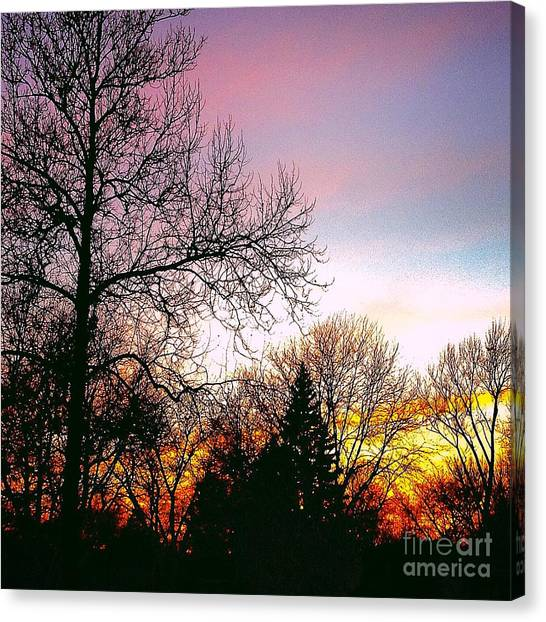 Yesterday's Sky Canvas Print