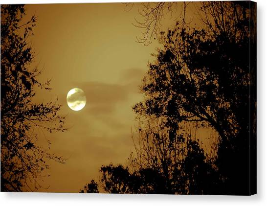 Yesteryears Moon Canvas Print