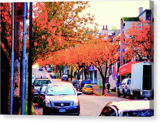 Yew Street Autumn Canvas Print by Paul Kloschinsky