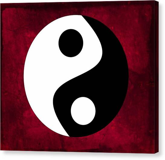 Chinese Restaurant Canvas Print - Yin And Yang by Marianna Mills