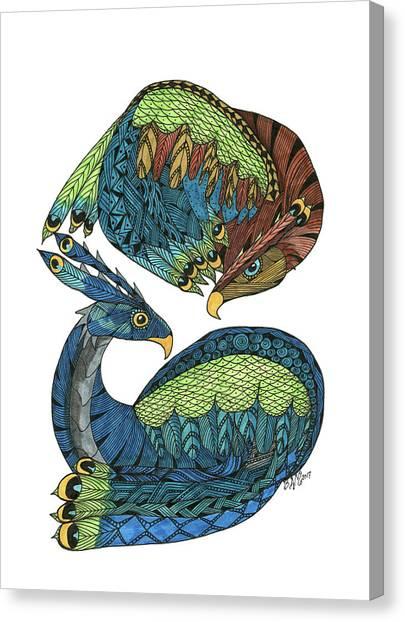 Yin Yang Dragons Canvas Print