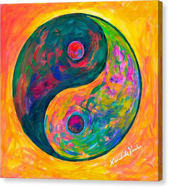 Yin Yang Flow Canvas Print