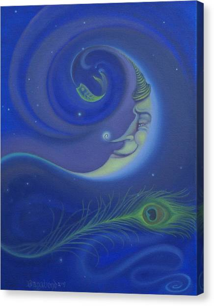 Yin Yang Moon Canvas Print