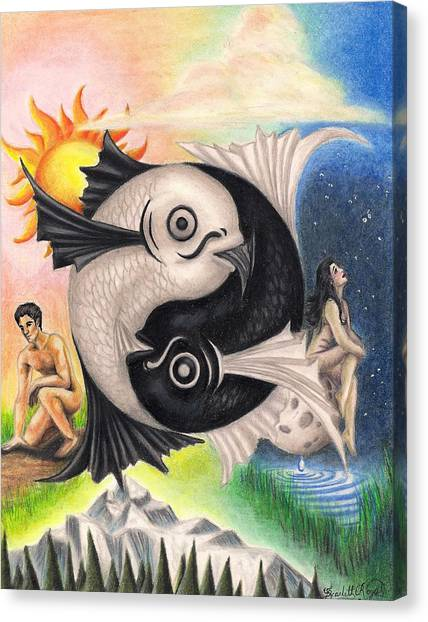 Yin-yang Canvas Print by Scarlett Royal