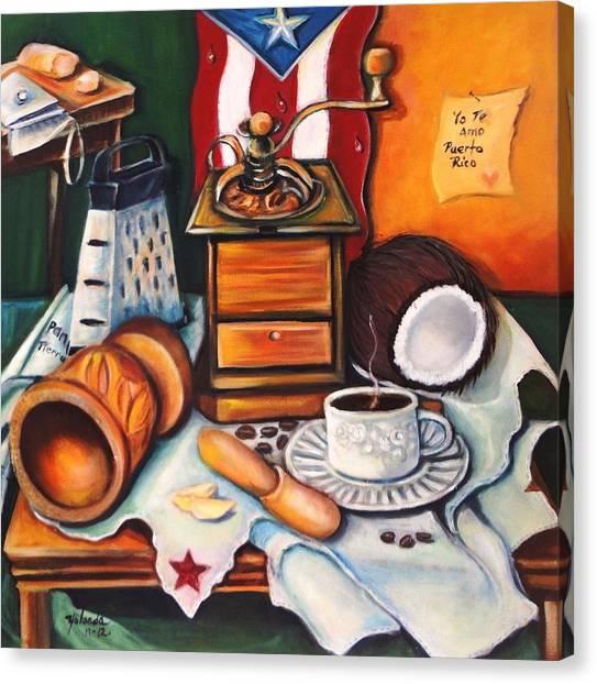 Yo Te Amo Puerto Rico Canvas Print