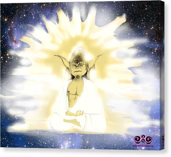 Yoda Budda Canvas Print