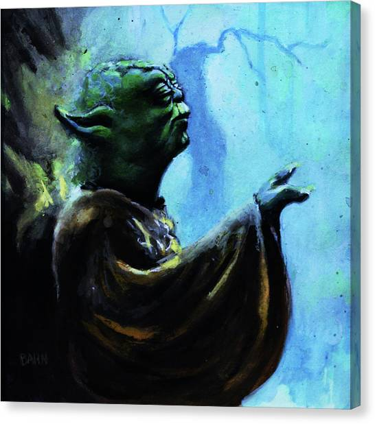 Padawan Canvas Print - Yoda by Chris Bahn