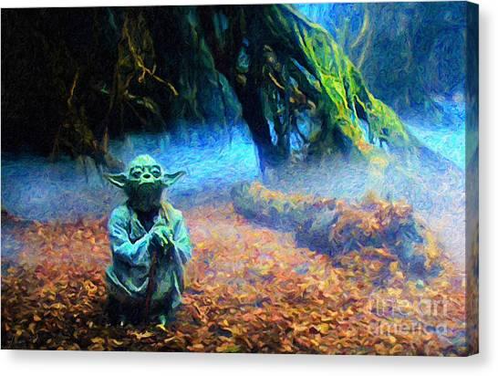 Yoda Canvas Print - Yoda by David Donan