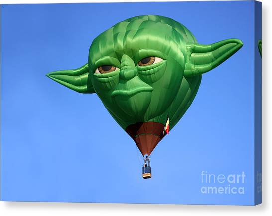 Yoda In The Sky Canvas Print