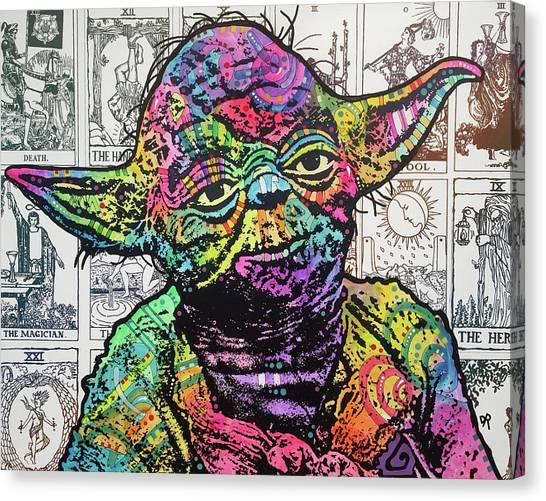Yoda Canvas Print - Yoda Tarot by Dean Russo Art