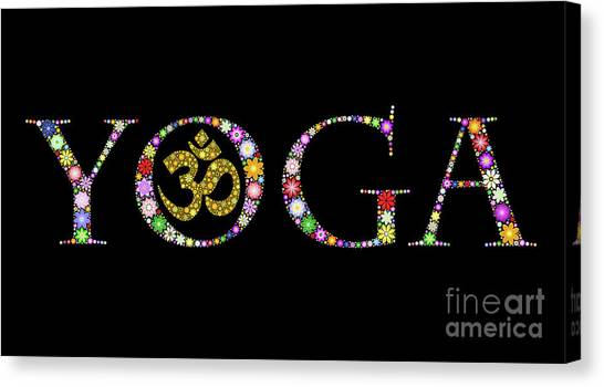 Om Canvas Print - Yoga Aum by Tim Gainey