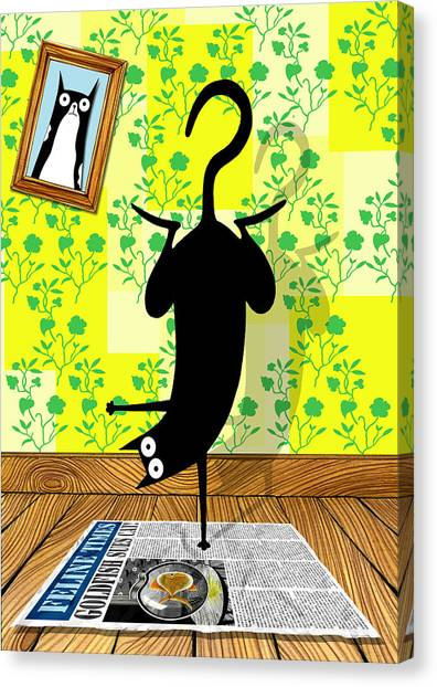 Humour Canvas Print - Yoga Mat by Andrew Hitchen