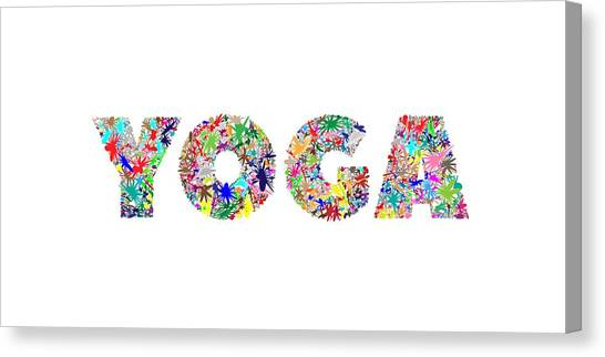 Yoga Word Art Canvas Print