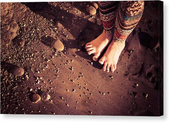 Canvas Print featuring the photograph Yogis Toesies by T Brian Jones