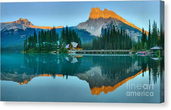 Canada Glacier Canvas Print - Yoho Emerald Glow Panorama by Adam Jewell