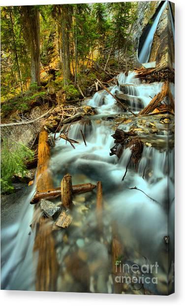 Canada Glacier Canvas Print - Yoho Hamilton Falls by Adam Jewell