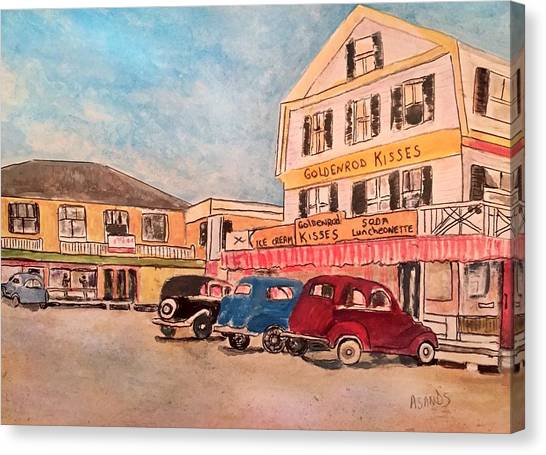 York Beach In Maine Canvas Print