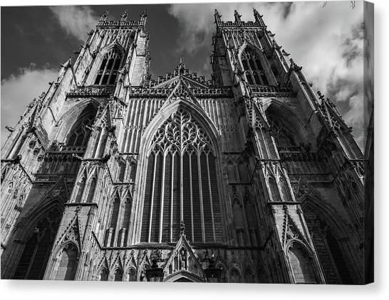 Minster canvas print york minster in black and white monochrome by tim clark